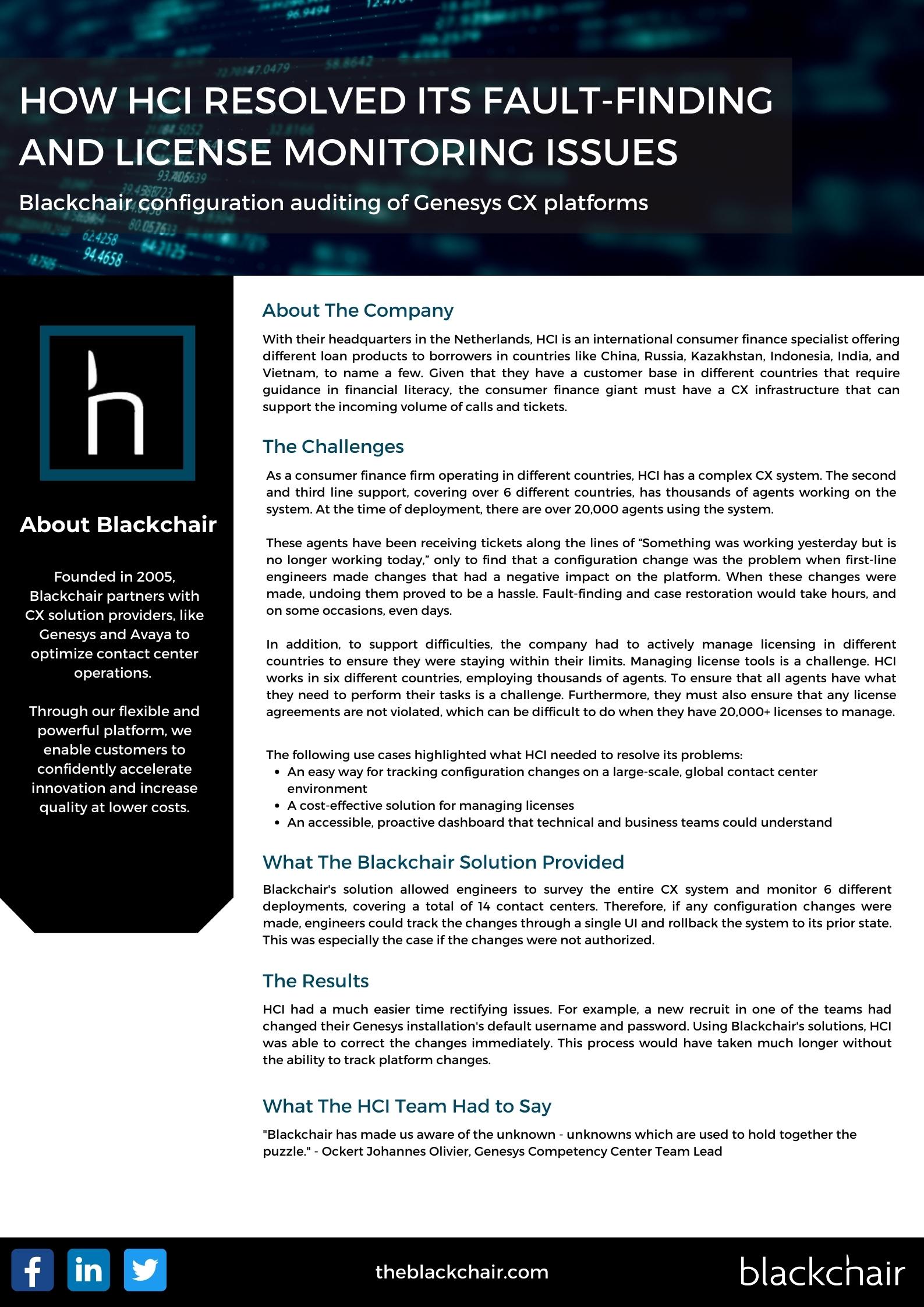 Blackchair - Case Study - HCI Case study